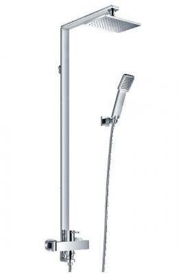 РЕЛАКС душ система с тръбно окачване и подвижен душ с пита S16
