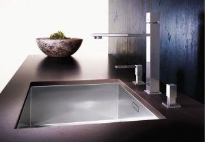 Кухненска мивка от инокс BLANCOZEROX 500-U  Монтаж под плот