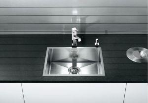 BLANCOZEROX 500-IF/A кухненска мивка от инокс Полирана с отвор в средата