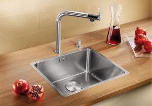 BLANCOANDANO 450-IF кухненска мивка от инокс с автоматичен сифон