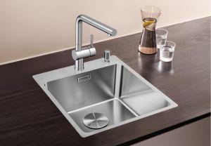 BLANCOANDANO 400-IF/A кухненска мивка от инокс с платформа за смесител
