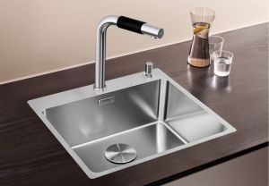 BLANCOANDANO 500-IF/А кухненска мивка от инокс с платформа за смесител