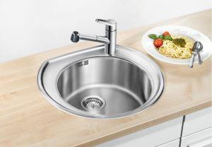 BLANCO RONDOVAL  Кухненска мивка от инокс, полирана