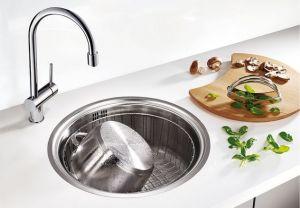 BLANCO RONDOSOL  IF Кухненска мивка от инокс с плосък борд