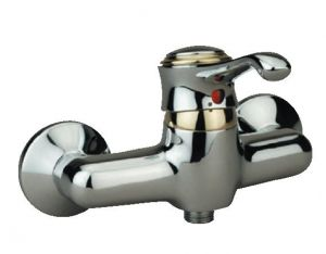 ЖАСМИН смесителна батерия  хром-злато за душ