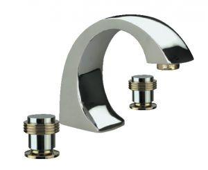 ТИФАНИ смесителна батерия  хром-злато за мивка, за вграждане