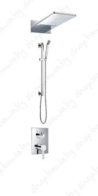 ПИКАСО  комплект за вграждане - петпътен смесител, двупътна пита S21, комплект душ слушалка с тръбно окачване