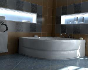 Хидромасажна вана NICA Premium Flat 12, ъглова, за двама - различни размери, с нагревател
