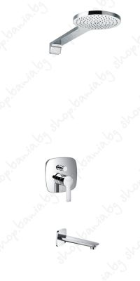 Душ система за вграждане Елипс със стенна  душ пита и чучур