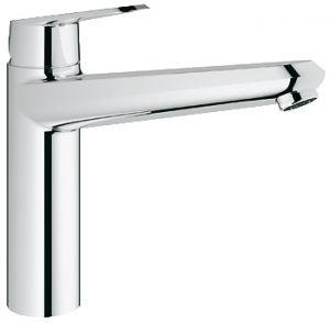 GROHE Eurodisc Cosmopolitan, 1-ръкохватков смесител за кухня, с вграден издърпващ се душ, хром