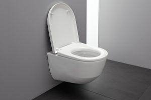 Комплект ROCA & LAUFEN PRO, структура за вграждане ROCA NEW SOLUTION с бутон PL 2, конзолна тоалетна чиния LAUFEN PRO с дъска със забавено падане