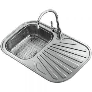 Комплект Tekaway кухненска мивка Stylo 83 1C 1E и смесител Inca висок хром