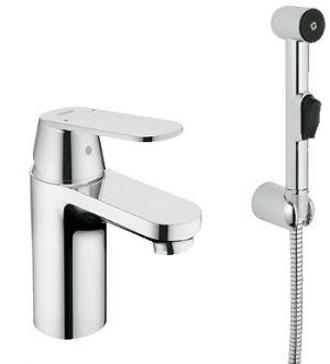 Комплект GROHE Eurosmart  Cosmopolitan смесител за умивалник със санитарен душ, без изпразнител