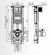 Комплект ROCA FAYANS HAPPY SMART - структура за вграждане ECO COMPACT 35 cm с бутон, конзолна тоалетна чиния FAYANS HAPPY SMART с дъска