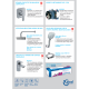 Пълен комплект за баня Ideal Standart PALLET 3 - Стенна тоалетна TESI Aqua Blade с капак, структура IS с бутон, мивка TESI с полуконзола, смесител за мивка, душ система за вграждане Ceraplan III с квадратна пита 200 мм и ръчен душ 130 мм.