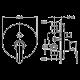 Система за вграждане NOVARA PLUS БЕЛЛА 1 злато/хром