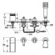КАСКАДА смесителна батерия за вграждане - вана стоящ-четиридупков