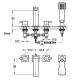 РЕЛАКС смесителна батерия за вграждане - вана стоящ-четиридупков