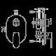 ЮЛИЯ,петпътна смесителна батерия за вграждане, вътрешно и външно тяло