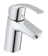 Комплект GROHE GROHTHERM 800 3в1, смесител за мивка Eurosmart S-size, смесител за вана и душ Grohtherm 800  и тръбно окачване с душ гарнитура New Tempesta 100